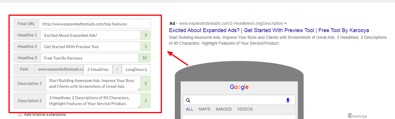 responsive search ads steps